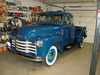 52 Chevrolet pickup.  A nice truck with some minor left over restoration issues.