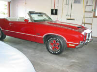 72 Oldsmobile 442 Convertible.  A fresh frame off restoration from another shop that wasn't quite up to par.
