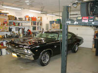 69 Chevelle SS396.  An impeccable restoration in for it's annual look over.  The current owner doesn't know who restored this car but it is definitely one to define the term RESTORATION.