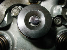 Valve and retainer damage due to incorrect valve train geometry. Talk about a grenade waiting to go off OUCH!!!