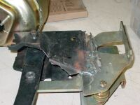 Bubbafied brake pedal assembly just fabricated???? and installed along with a new disc brake conversion.  Hmmm  the brakes didn't work to well, Bubba must have skipped the chapter on pedal ratios and their importance for proper brake function.
